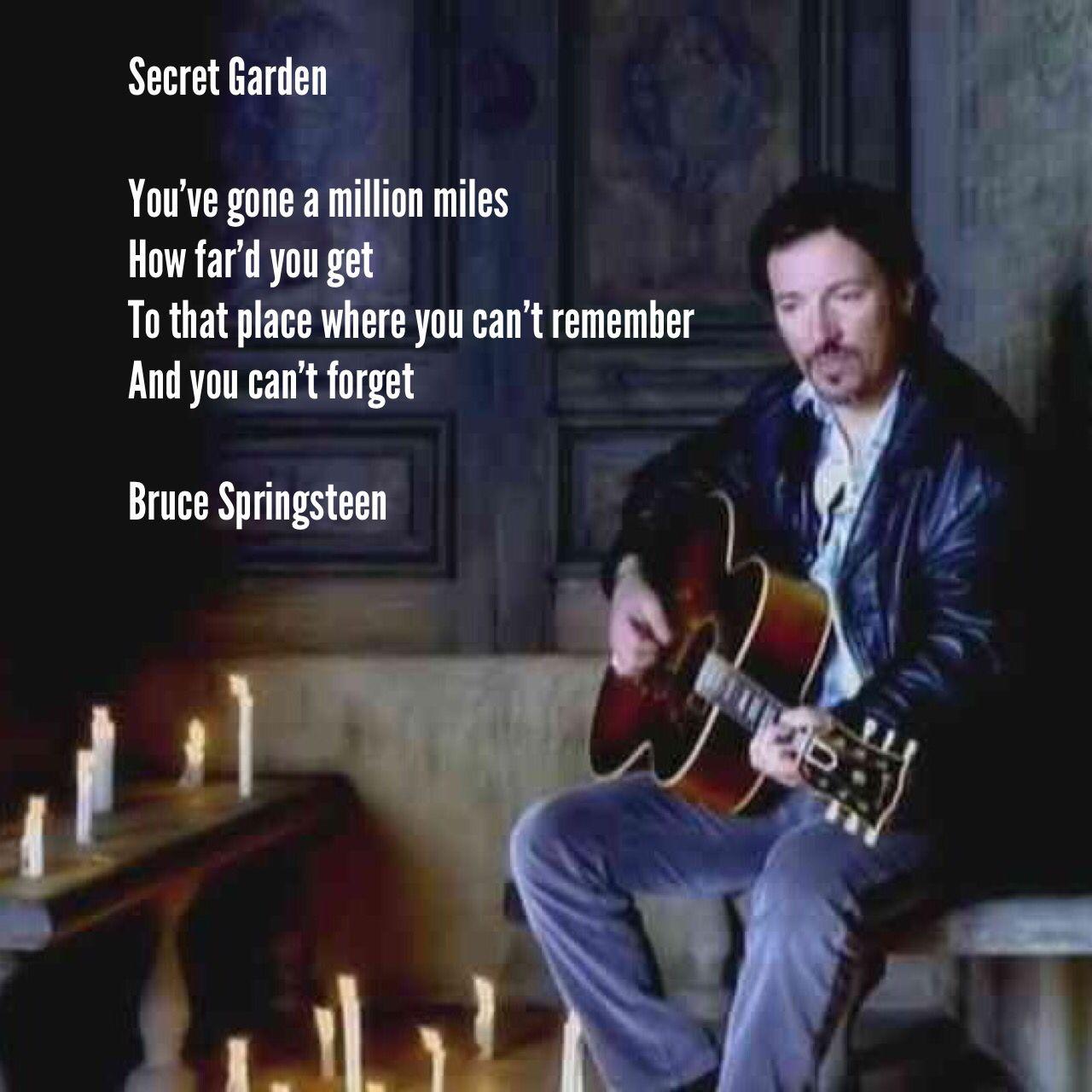 Secret Garden You've gone a million miles How far'd you