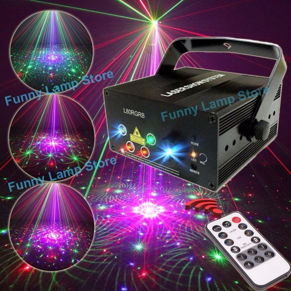 Mini Proiettore Laser Effetto Luci.Suny 5 Lens Rgb 80 Pattern Laser Mini Led Luce Della Fase Effetto Di