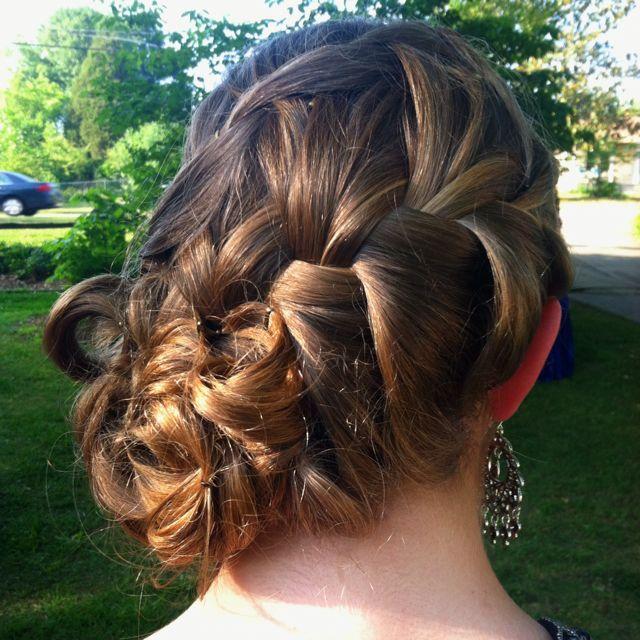 My prom hair - French braid updo | Hair beauty, Hair, Hair ...