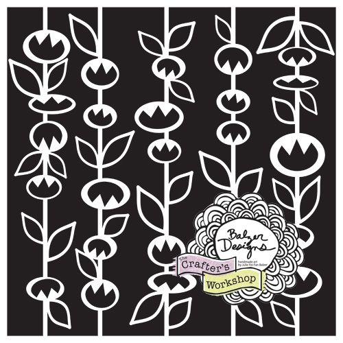 StickFlowers Stencil by Julie Balzer...