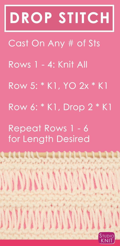 How to Knit the DROP STITCH GARTER Pattern | Knitting patterns ...