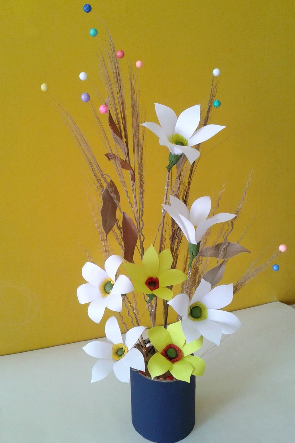 Best Of Waste Craft Ideas For Kids Part - 41: Easy Desk Decoration Ideas : Best Out Of Waste Craft Flower Decoration V.