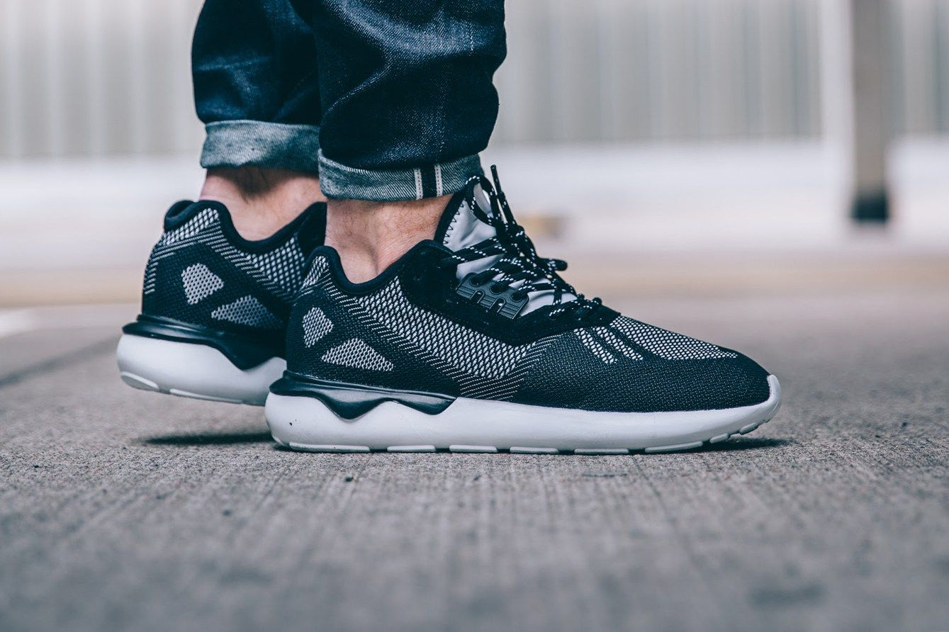 adidas's Tubular Runner Weave Mixes Black & White for an Interesting  Contrast