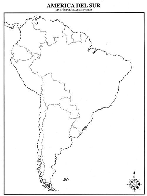 Pin De Copycelta Corporation En Mapas Pinterest Mapa: America Mapa Sin Nombres At Infoasik.co
