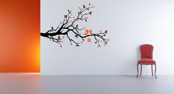 Branch Decal Branch Decor Love Birds Art Branches Heart Decal Heart Decor Bird Decal Bird Dec Branch Decor Photo Displays Things To Come