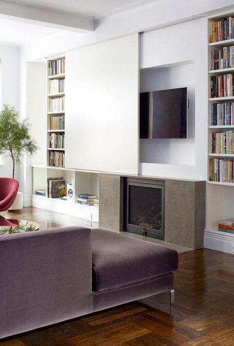 13 diferentes formas de integrar y colocar el televisor en casa Tv - tipos de chimeneas