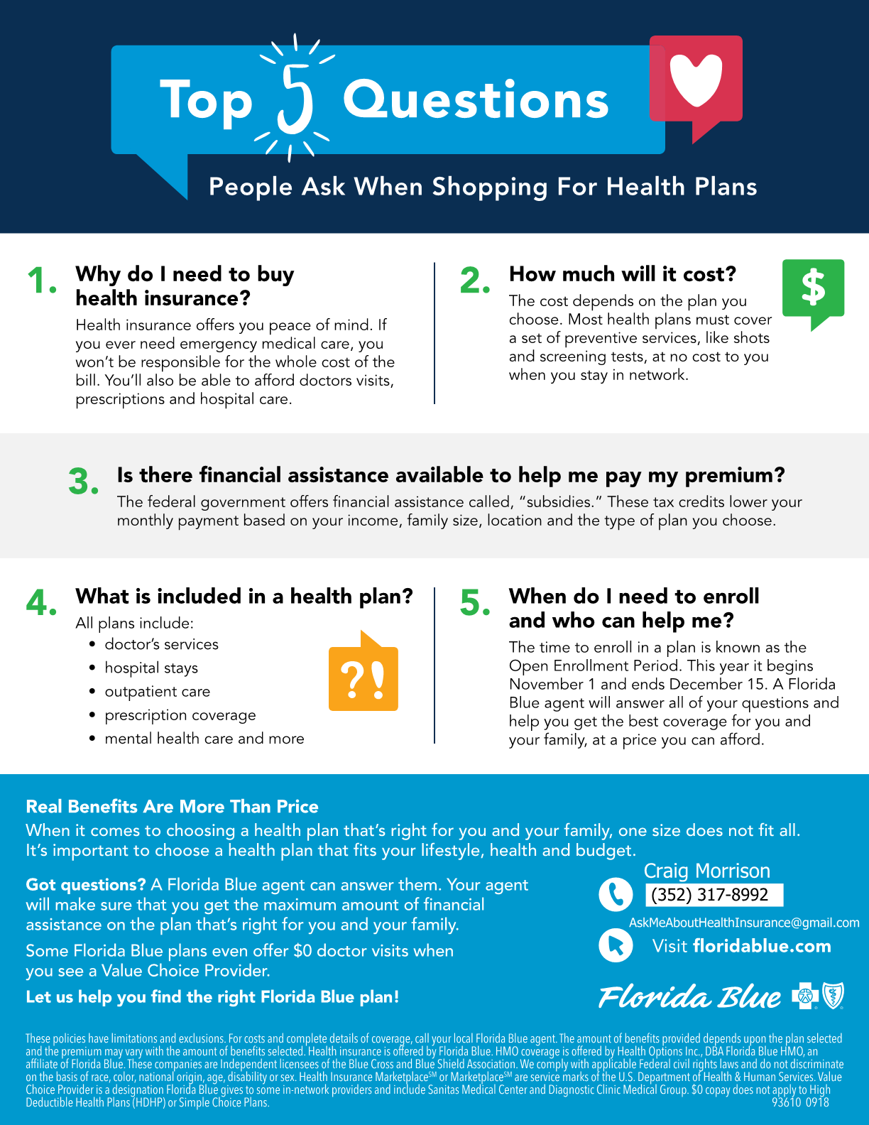 Health insurance open enrollment is right around the ...