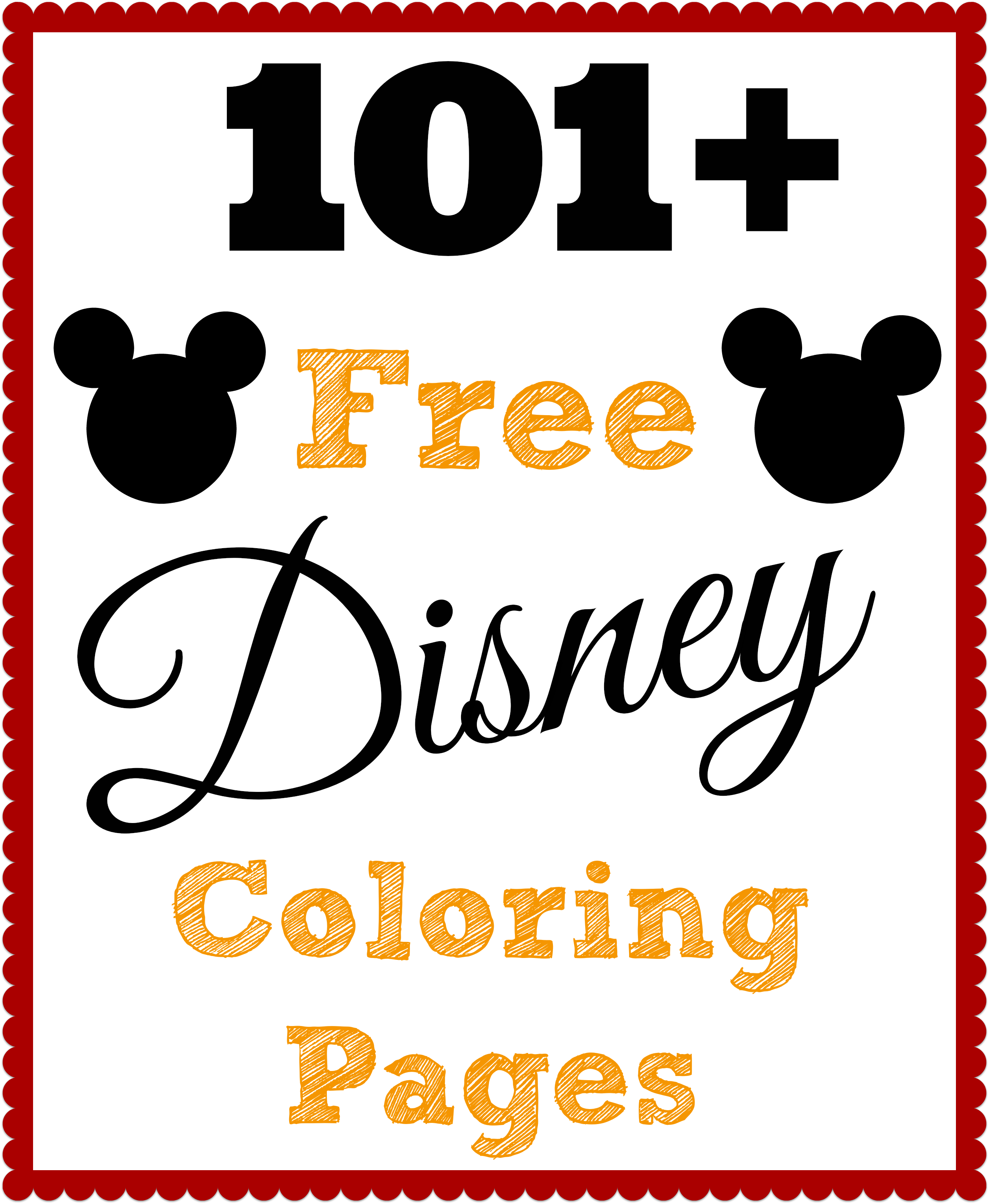 Over 101 FREE Disney coloring pages! Pin this one and keep for your ...