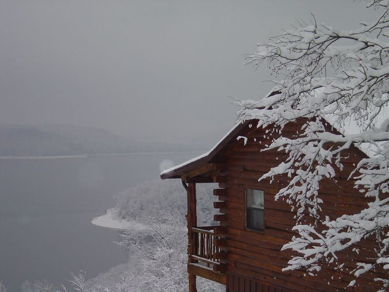 homested cabin in ozark rentals away beaver lake tucked on pin cabins secluded rental the