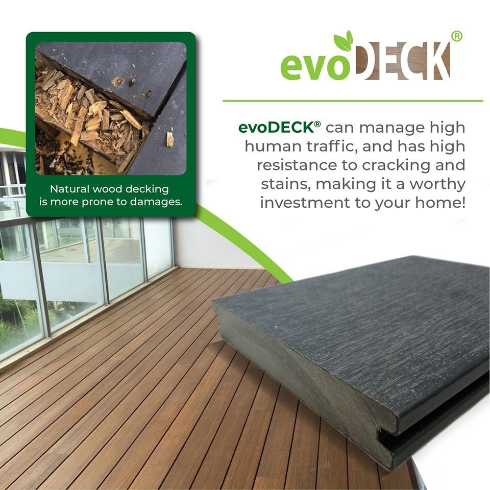 Need A Decking That Lasts Invest In Evodeck And Benefit From Its Highly Appreciated Features It Is Capable Of Withstand In 2020 Outdoor Deck Balcony Design Wood Deck