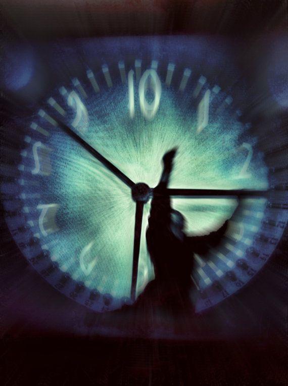 Photo art - Time No. 1 - surreal photo art  photography clock time wall art nouveau