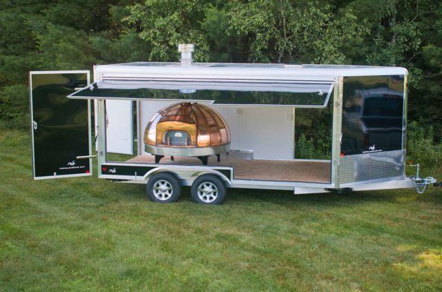Enclosed Pizza Oven Trailer Mobile Ovens Pinterest