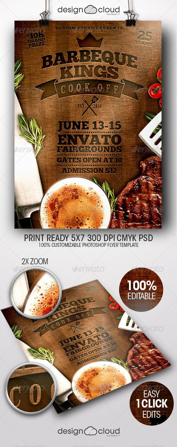 Bbq Kings Cook Off Flyer Template  Bbq King Flyer Template And