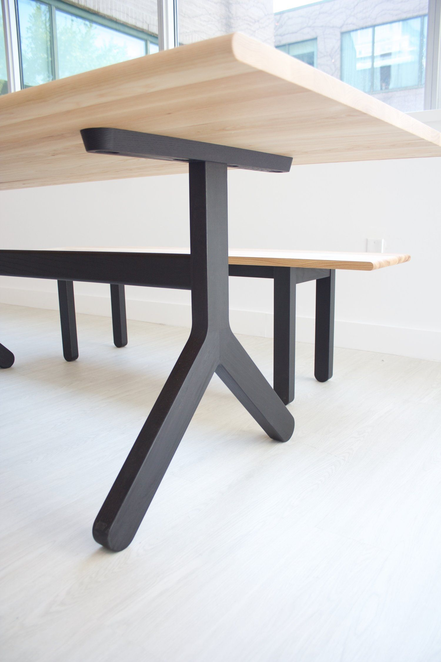 Dining Table 002 by Kroft. Ebonized ash legs with an oiled ash top ...