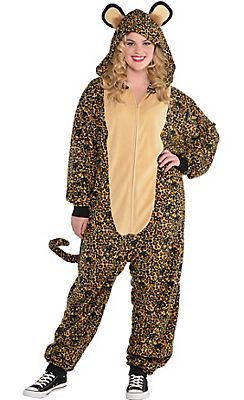 Adult Zipster Leopard One Piece Costume Plus Size  sc 1 st  Pinterest & Adult Zipster Leopard One Piece Costume Plus Size   Halloween ...