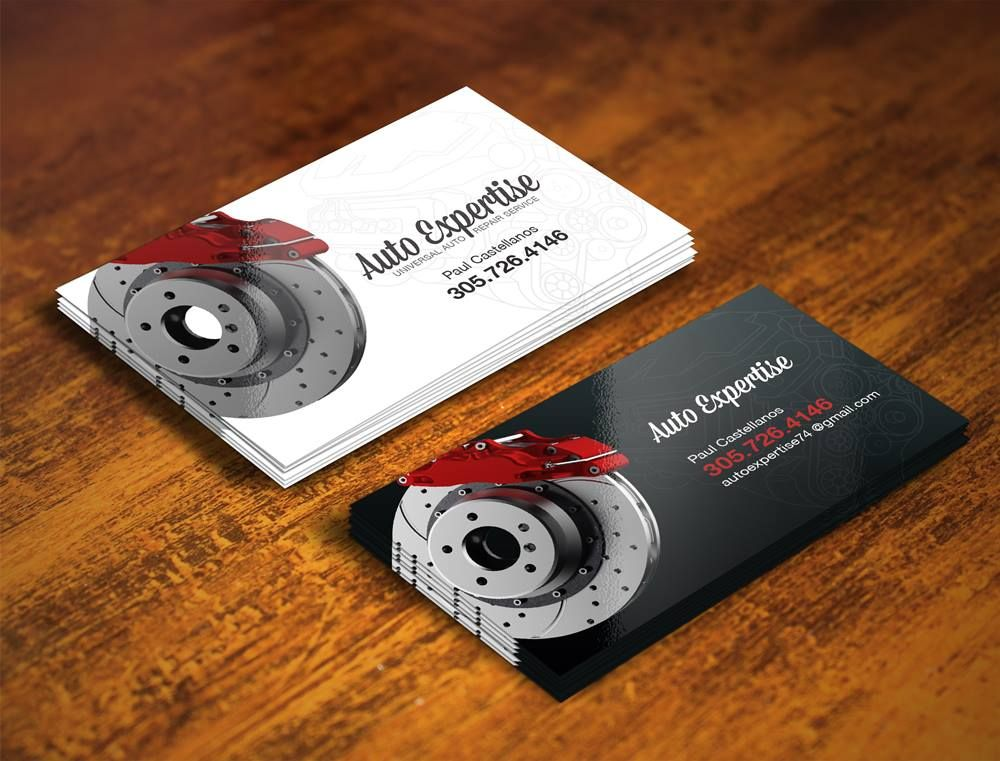 Auto Mechanic Business Cards Design by QColors | Logo | Pinterest ...