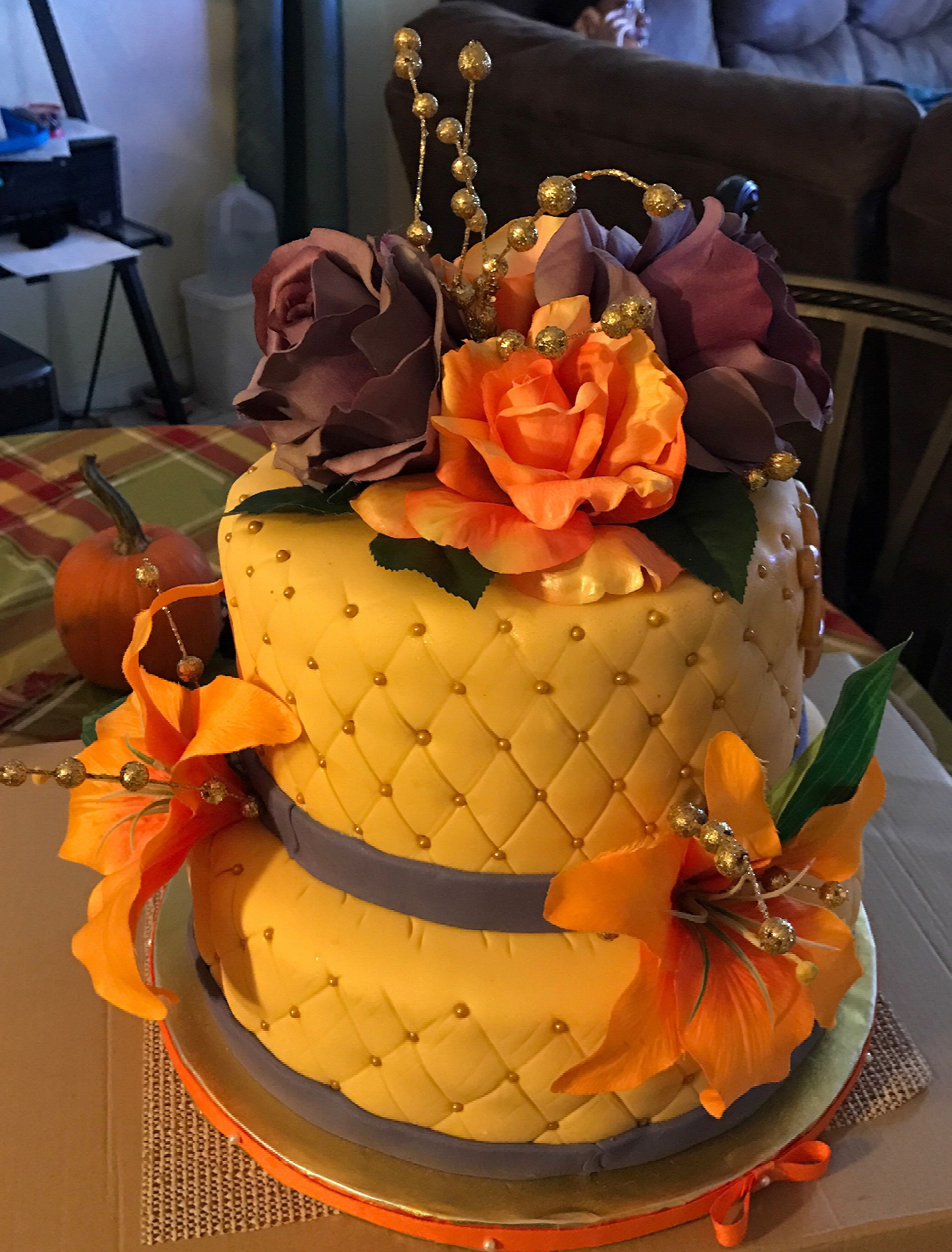 Pin by Adrina Milligan-Thompson on Bright color cake ...
