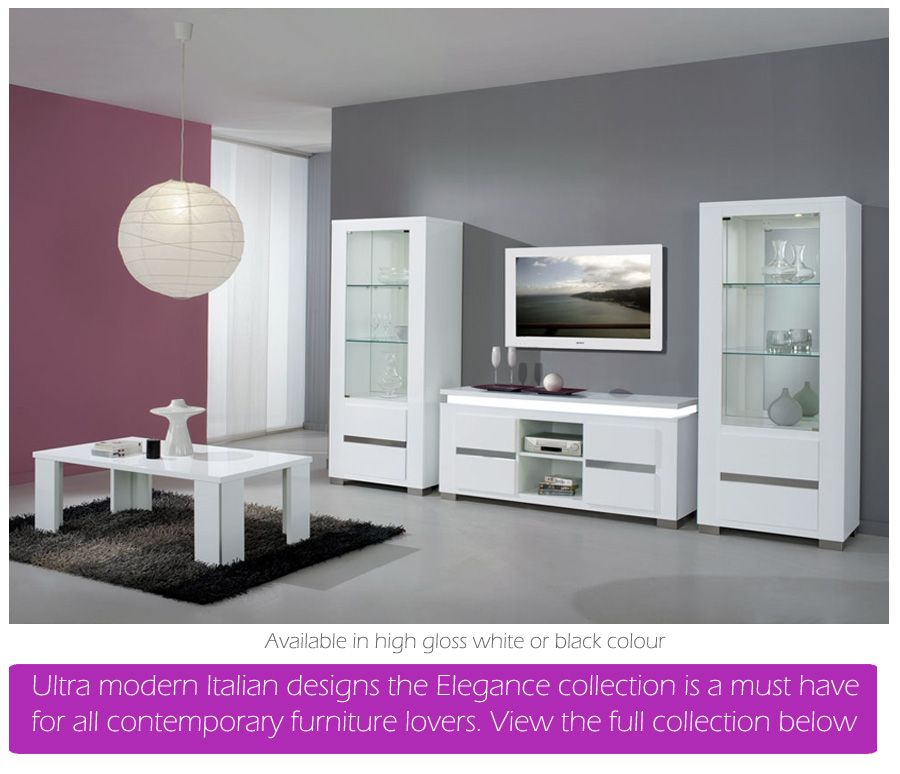 White High Gloss Dining Furniture And Sets Em Italia