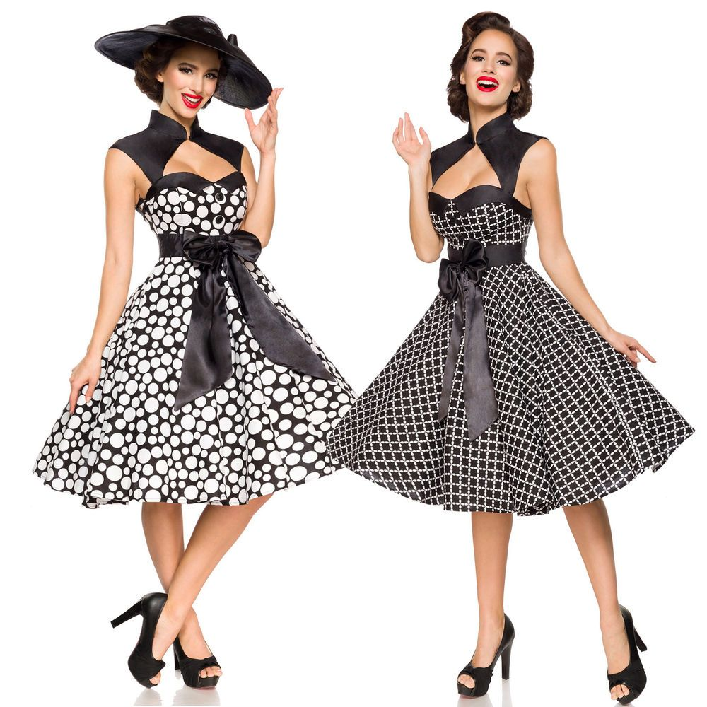 Vintage Sommerkleid Kleid Retro Sommer Rockabilly Tellerrock