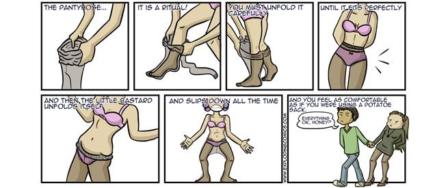 Who discovered pantyhose