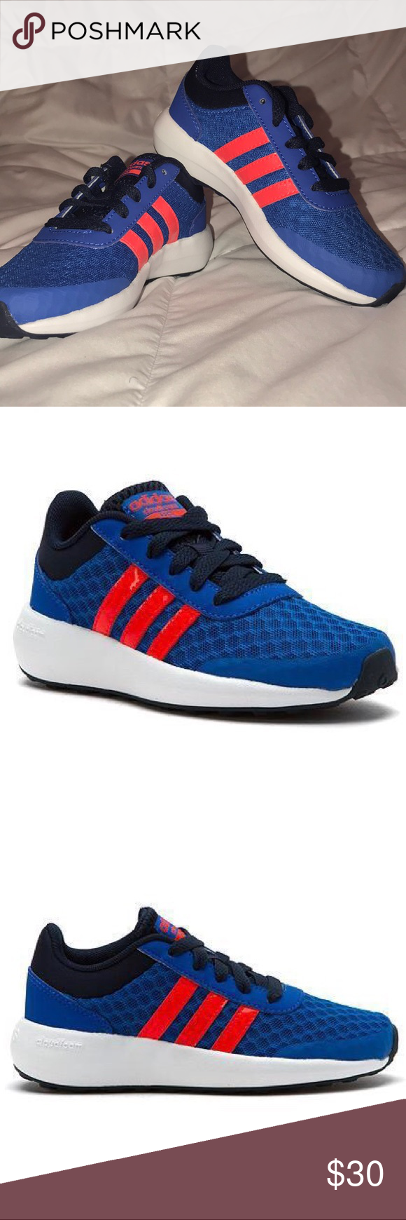 Brand New Adidas Neo Cloudfoam Race Kids Shoes | Adidas neo, New ...