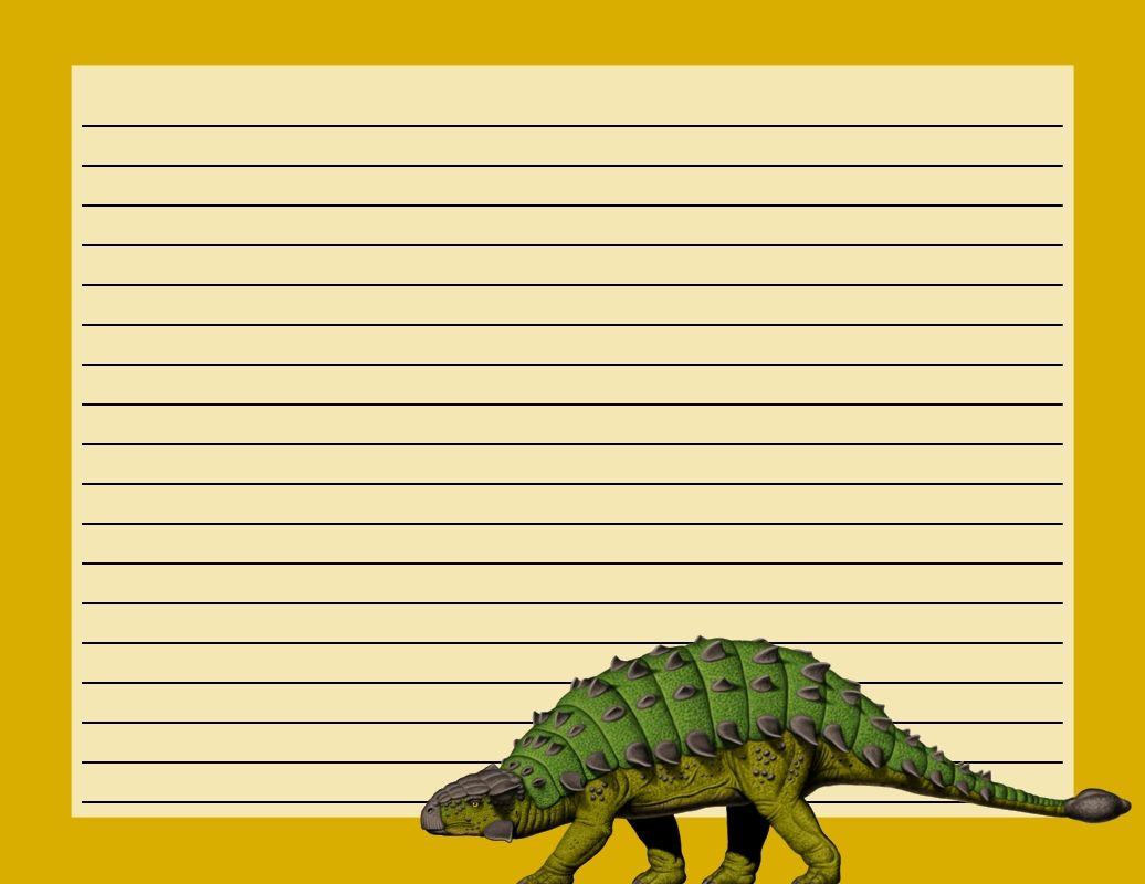 Printable Dinosaur Writing Paper