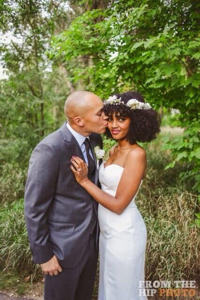 Flower Crown And Curly Hair African Wedding Hairstyles Natural