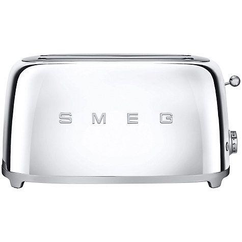 Smeg Tsf02 4 Slice 2 Slot Toaster Chrome Dream Home Pinterest
