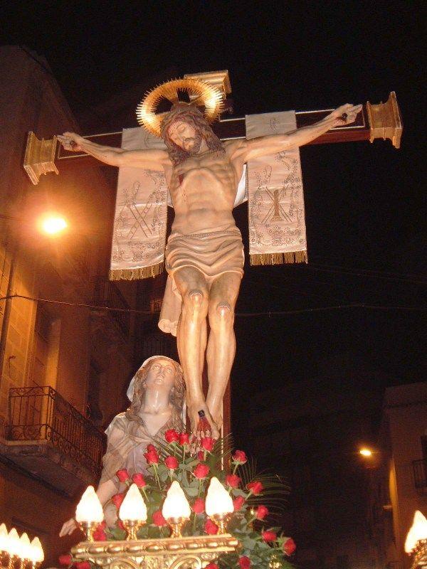Stmo Cristo De La Victoria Y Maria Magdalena Statue Relic Art