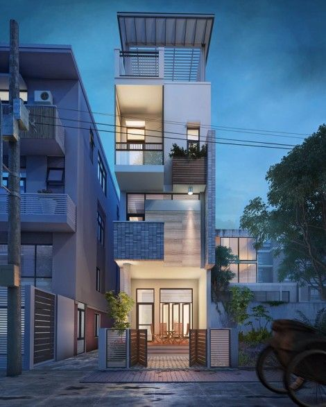 Small Narrow House Vietnam 3d Visualization Fresh Design