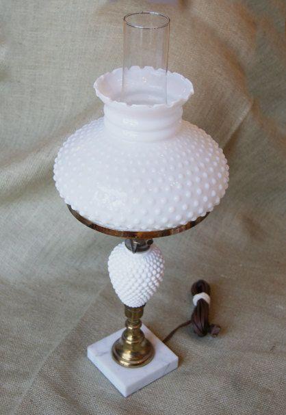 Sale vintage electric white milkglass hobnail hurricane table lamp sale vintage electric white milkglass hobnail hurricane table lamp 4500 via etsy aloadofball Image collections