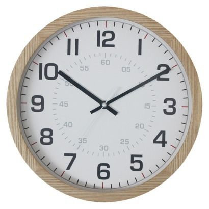 Lovely Threshold™ Ash Wood Clock. Target $24.99