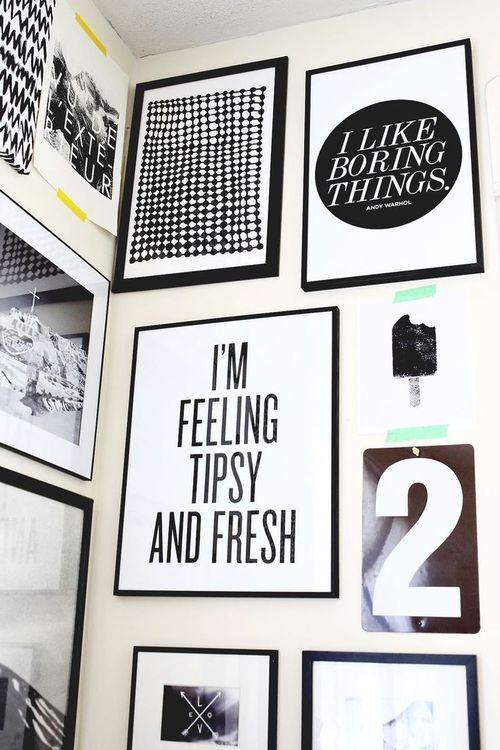 Quadros em preto e branco na decora o ideias para for Como e dining room em portugues