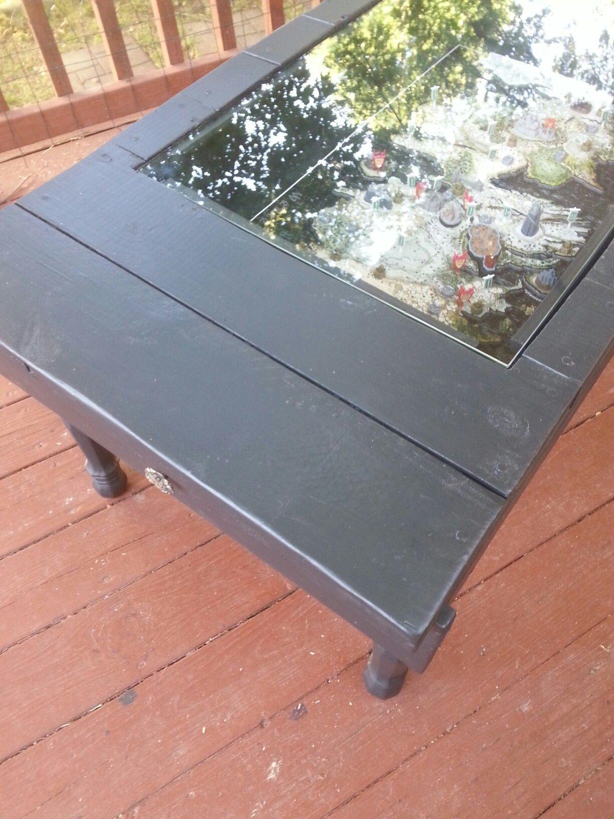 shadow box coffee table built around