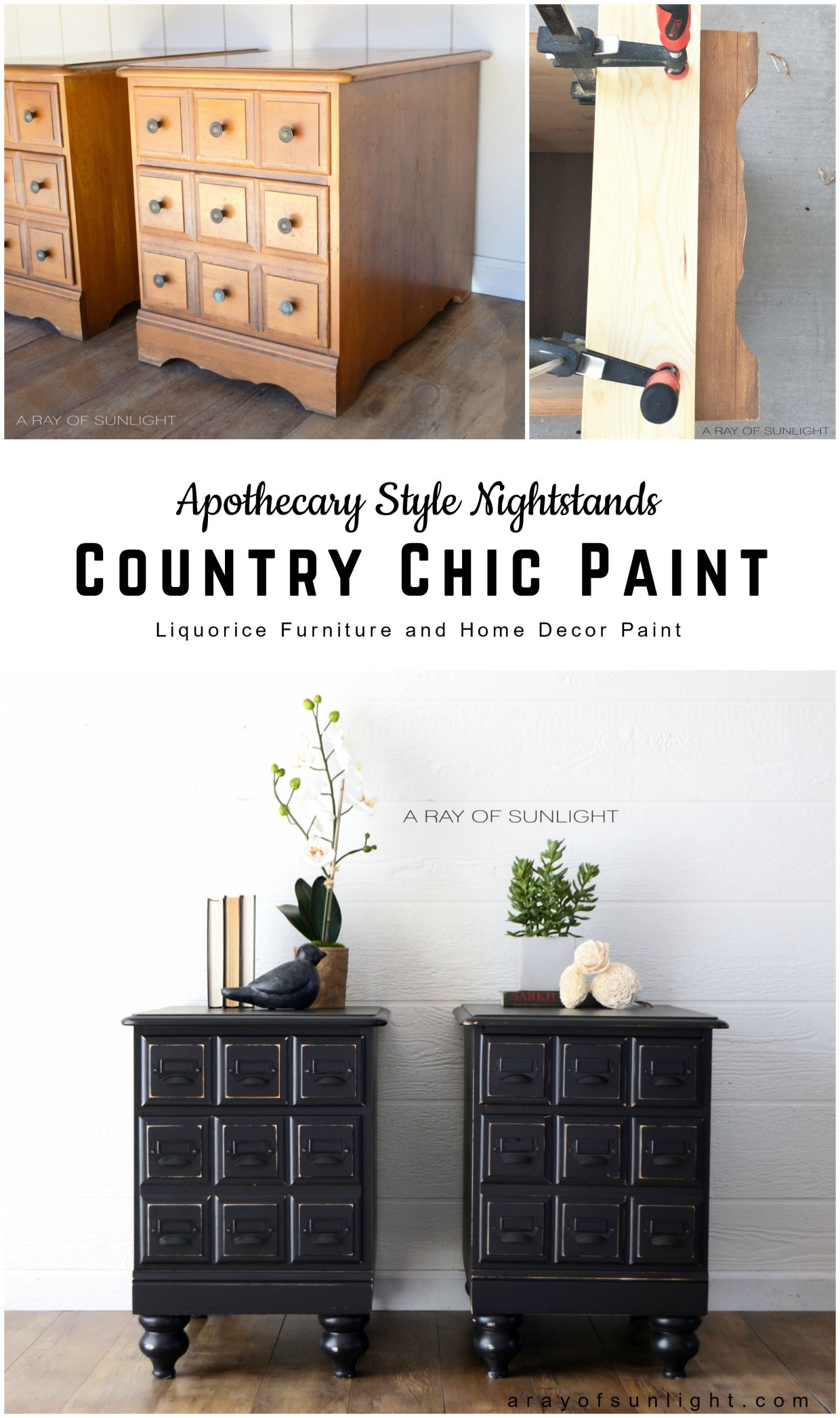 Apothecary Style Nightstands #DIY