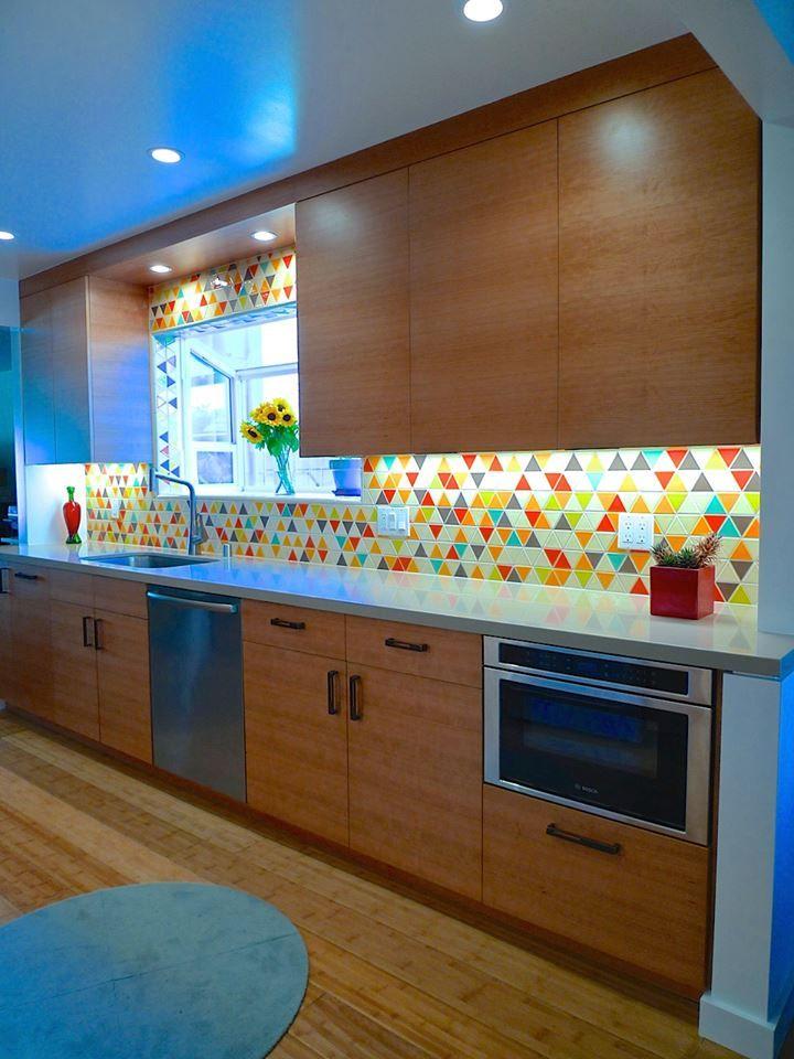 Multi Colored Triangle Inspiration Kitchen Furniture Design