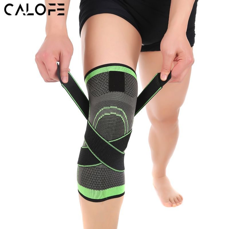 Calofe Professional Protective Sports Knee Pad Breathable Bandage Knee Brace Basketball Tennis Cy Knee Support Sleeve Knee Compression Sleeve Sports Knee Brace