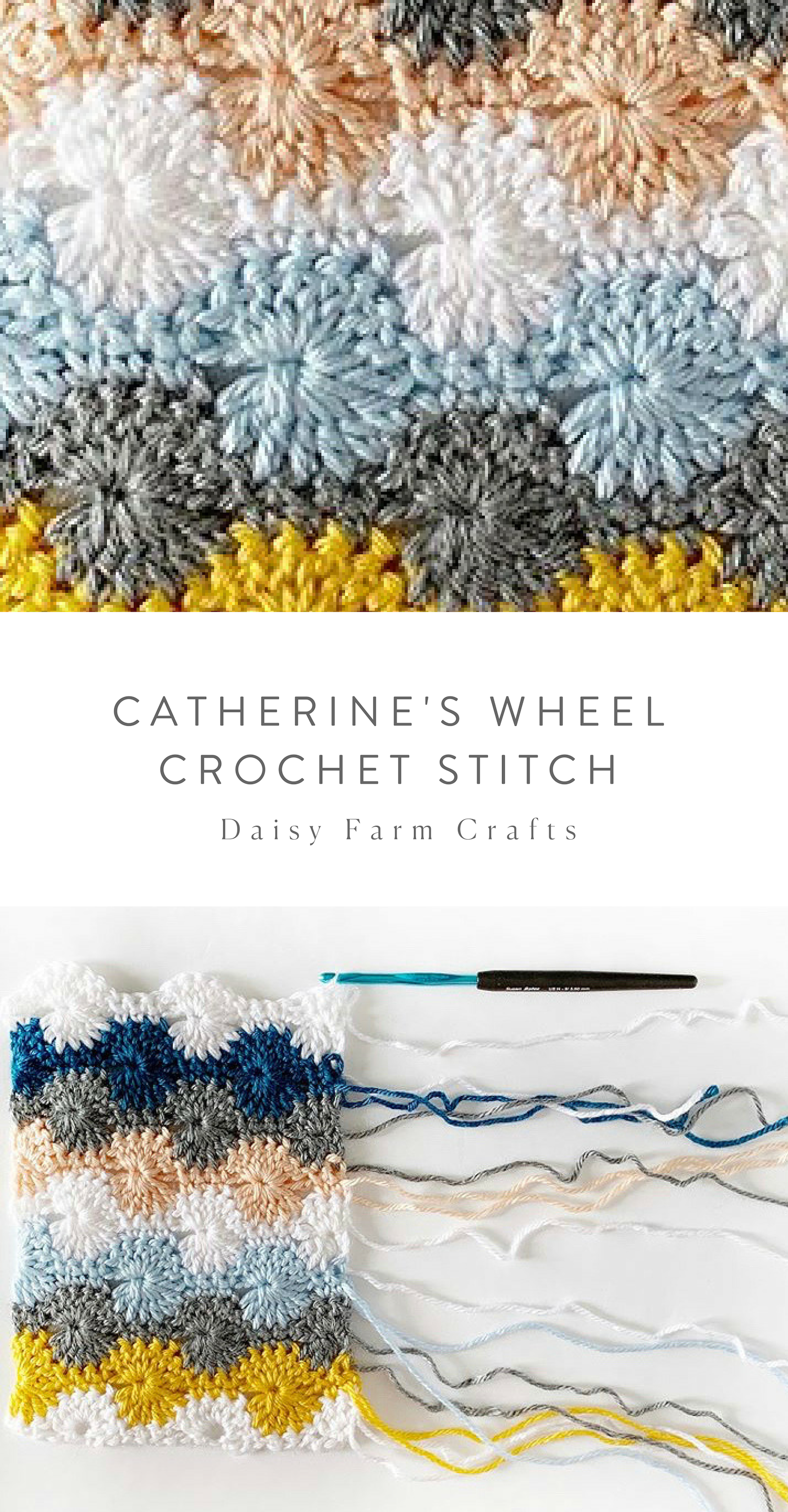 Catherine's Wheel Crochet Stitch #crochetpatterns