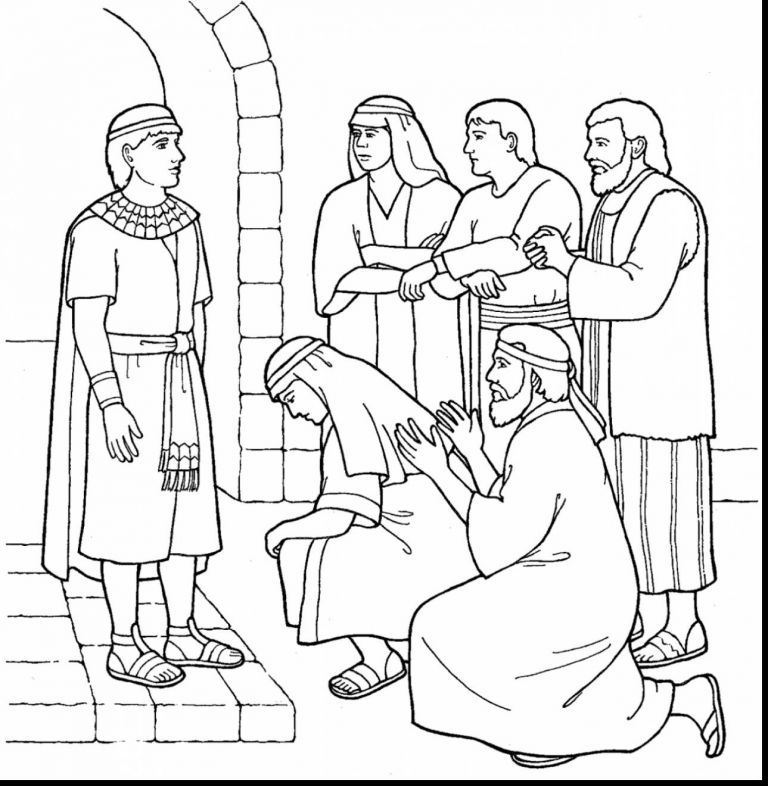 Joseph forgives His Brothers Coloring Page Luxury Joseph