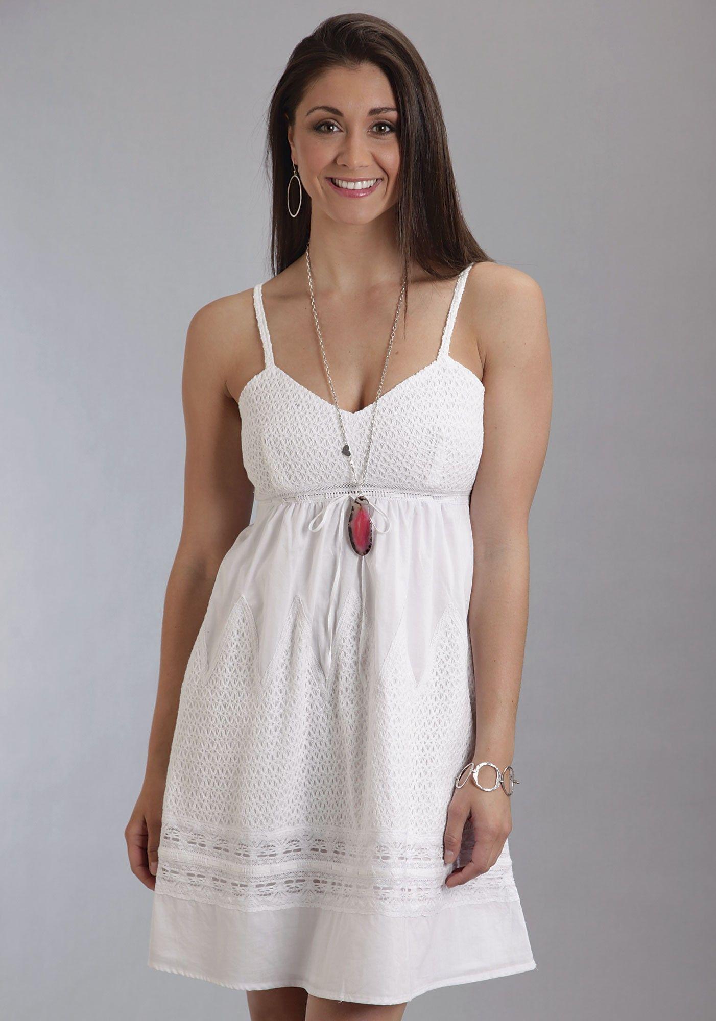 Women dresses in white