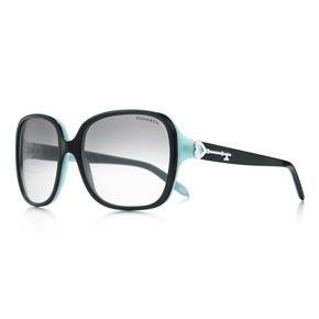 151e7de63970 Tiffany Keys square sunglasses in black and Tiffany Blue® acetate ...