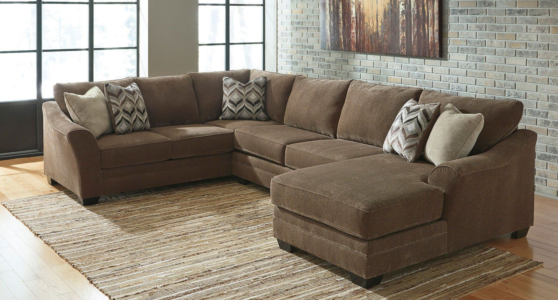 Justyna Teak Right Chaise Sectional Furniture 3 Piece Sectional Sofa Living Room Furniture #sectional #living #room #suit