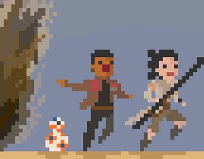 """Check out new work on my @Behance portfolio: """"Star Wars Pixel Art"""" http://on.be.net/1JzYGXI"""