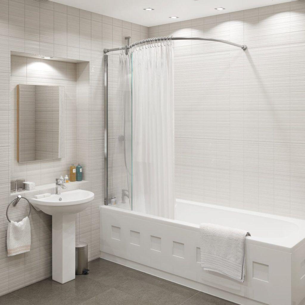 Curved Shower Curtain Rail Over Bath
