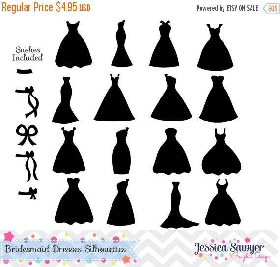 80 Off Instant Bridesmaid Dresses Silhouettes