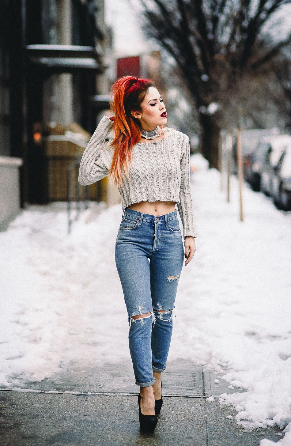 Sweater- Romwe Jeans – A Gold E Shoes – similar here and ...