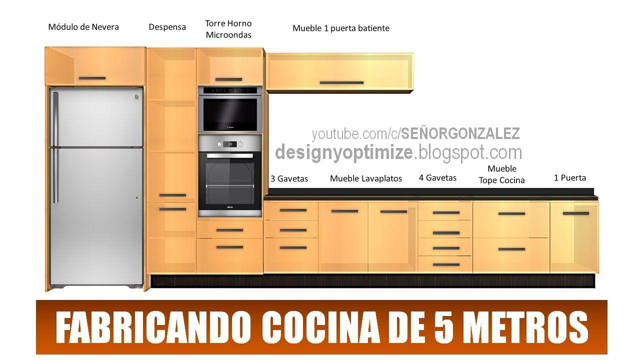 Fabricando Cocina De 5 Metros Planos Planos De Muebles Diseño De Cocina Mueble Lavaplatos