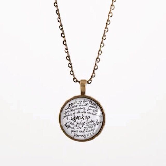 A fashionable expression of love and faith, the Speak Up Necklace features Eden Ministry's signature verse pendant with adjustable chain. http://www.phatrice.com/eden-ministry-speak-up-necklace  #gift #giveback #dogood