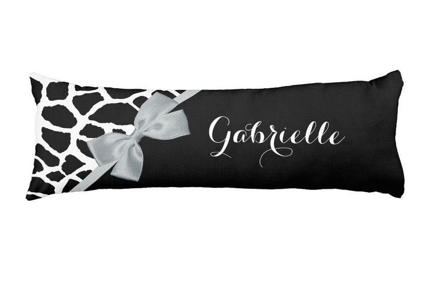 Pin By Oh So Girly Boutique On Personalized Body Pillows For Her Amazing Giraffe Print Body Pillow Cover