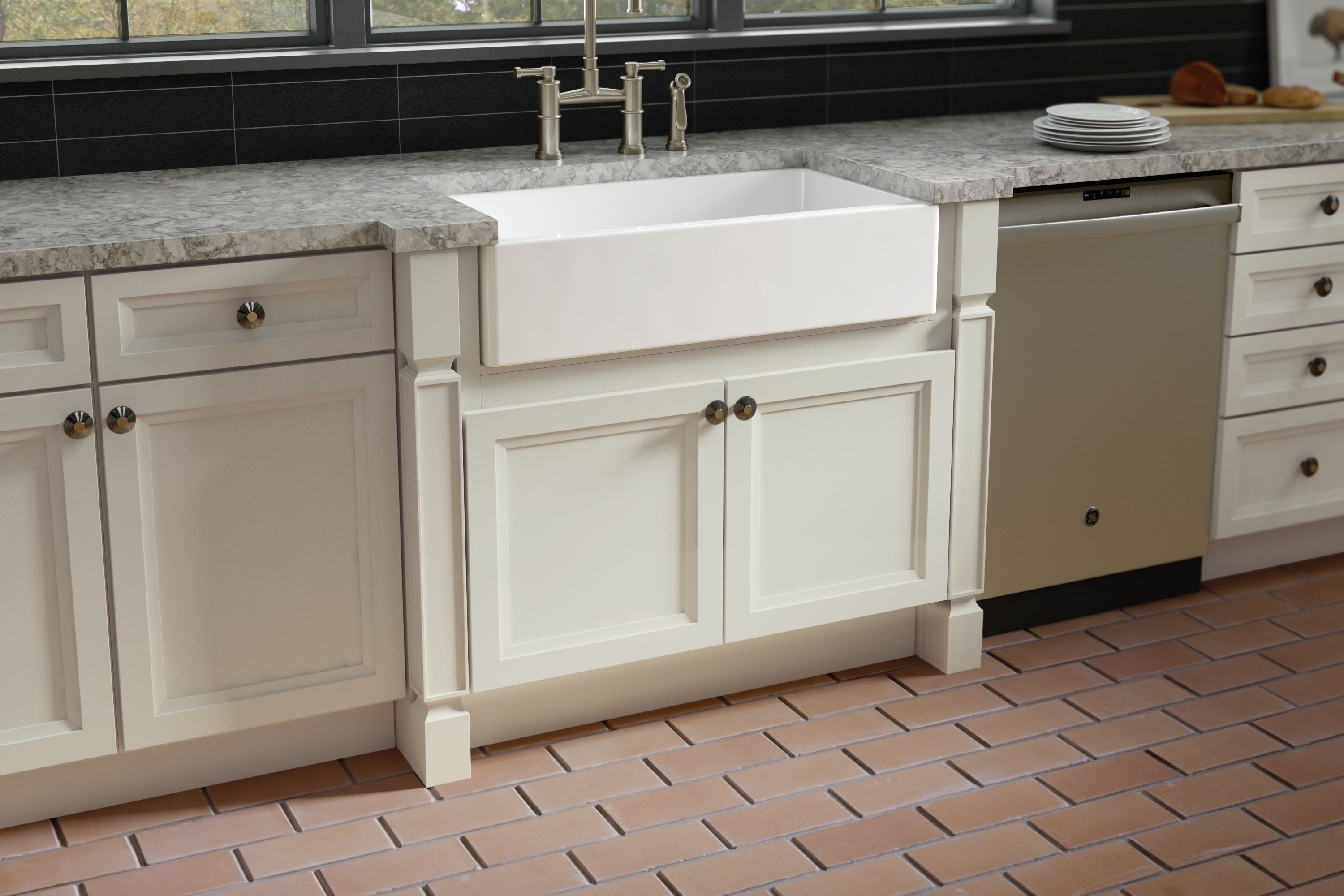 A Front Sink Accompanied With Ansel Decorative Accent Leg